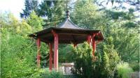 Forstbotanischer Garten Eberswalde - Blick auf den ostastiatischen Pavillon, Foto: C. Gohlke