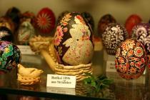 Ältestes Osterei im Museum Sorbische Webstube, Foto: V. Küch